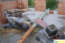 výsledok stavby komínu bez výztuže